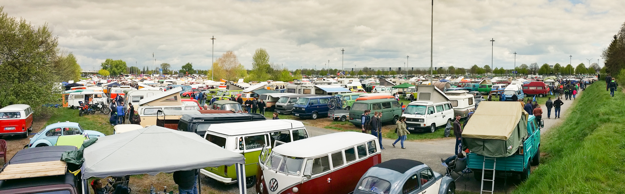 Blick auf den Teilnehmer Parkplatz